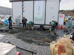 東松島市グリーンタウンやもと2仮設住宅への支援