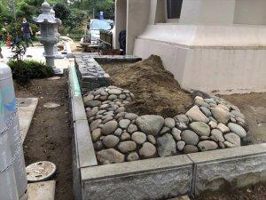 平和観音像 記念事業「伊達な庭」の作庭状況