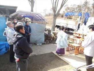 平成31年2月16日_献木、御神輿、トラック安全祈願と積込