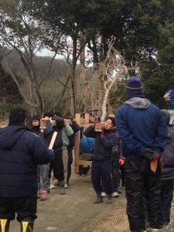 平成31年2月9日_御輿予行演習_白装束隊