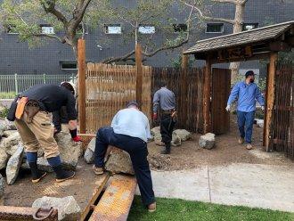 米国リバサイド市結心庭修復事業_施工状況